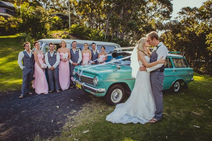 #Wedding #Photography #Australia #BridalParty  #Forest #Classic #Car #Kombie