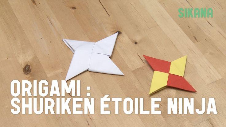 Dans cette vidéo vous apprendrez comment faire un shuriken en papier (étoile ninja en papier). L'origami étoile ninja est un origami assez simple à faire. Vo...