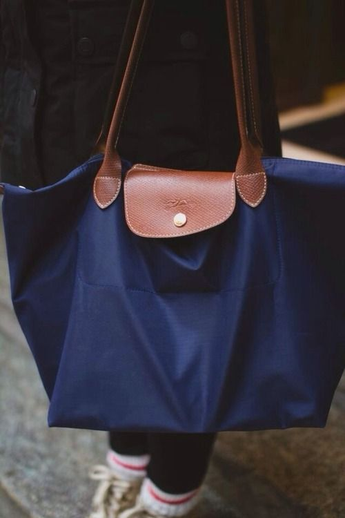 Longchamp Navy Large Shoulder Le Pliage Handbags In 2018 Bags