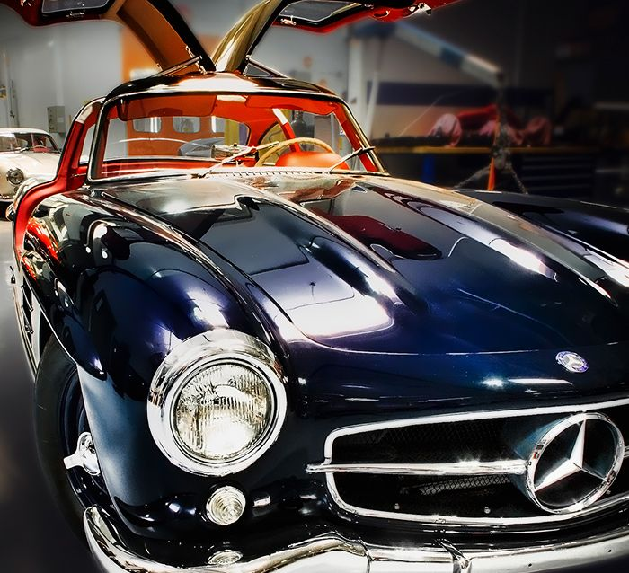 Mercedes-Benz 300 SL Gullwing. Photo by Royce Rumsey.