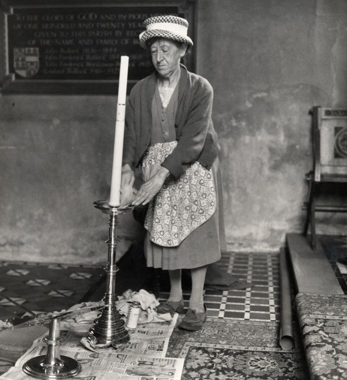 Church cleaner, Ashbrittle, Somerset, 1950s Photograph: Jane Bown