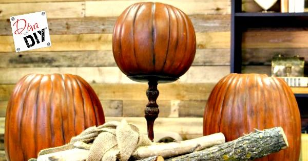 Do you like the ease of a faux pumpkin but hate the fake look? Let me show you how to make a foam pumpkin from fake to fabulous with a realistic paint wash!