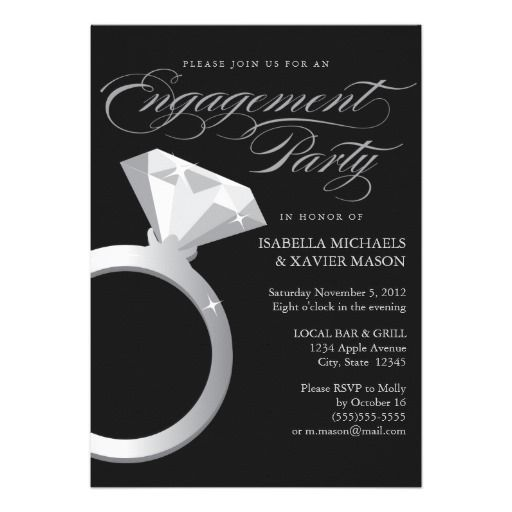 CLICK ON THE LARGER IMAGE TO SEE PRICING AND PURCHASING INFORMATION - 5 x 7 Engagement Ring | Engagement Party Invite
