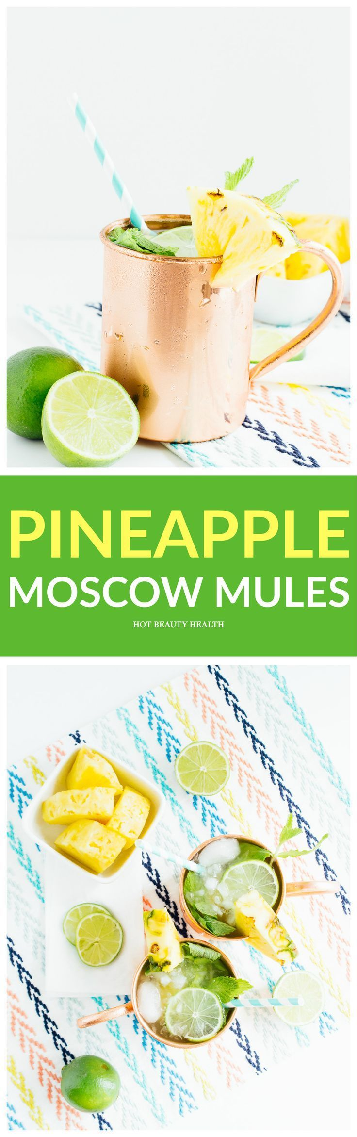 This pineapple moscow mule cocktail recipe is the perfect spring or summer drink that's full of tropical goodness. Contains alcohol and pineapple juice!