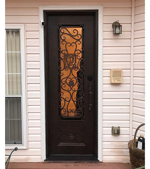Single Entrance Door Back Door In 2020 Iron Entry Doors Iron Doors Wrought Iron Entry Doors