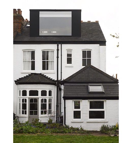 Large window loft extension. Andrew Mulroy architects