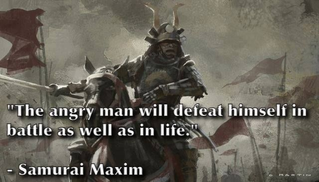 Determination and resolve serves me better than anger.