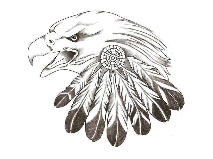 eagle sketches | Eagle Feather Tattoo