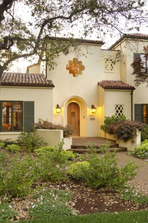Spanish style home, love the architecture of this one-