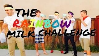 rainbow milk challenge - YouTube
