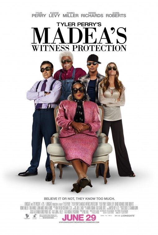 Tyler Perrys Madeas Witness Protection Movie 2012 Used DVD A Wall Street Investment Banker Who Has Been Set Up As The Linchpin Of His Companys Mob Backed