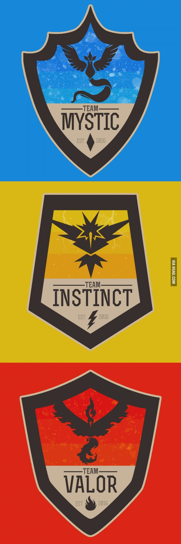 COOL POKEMON GO TEAM BADGES - 9GAG