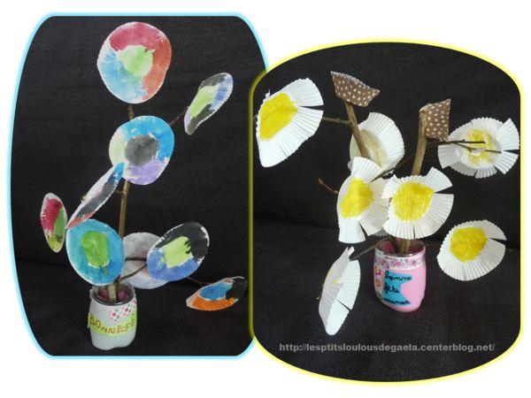 Bricolage enfants pour la fête des mères. Bouquets pour maman