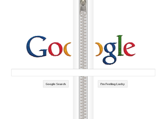 Google Doodle honoring Gideon Sundback, Zipper Engineer