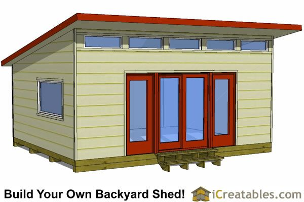 16x20 modern studio shed plans
