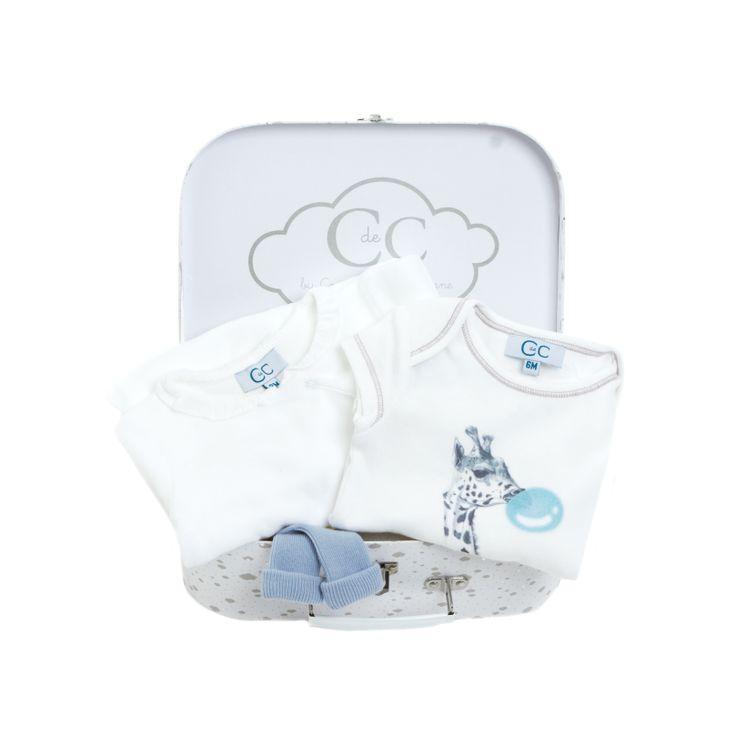 Pyjama Jonka White, Body July White, Chaussettes Sock Azur