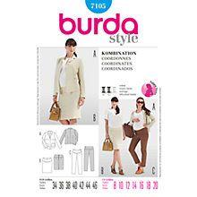 Buy Burda Maternity Coordinates Sewing Pattern, 7105 Online at johnlewis.com