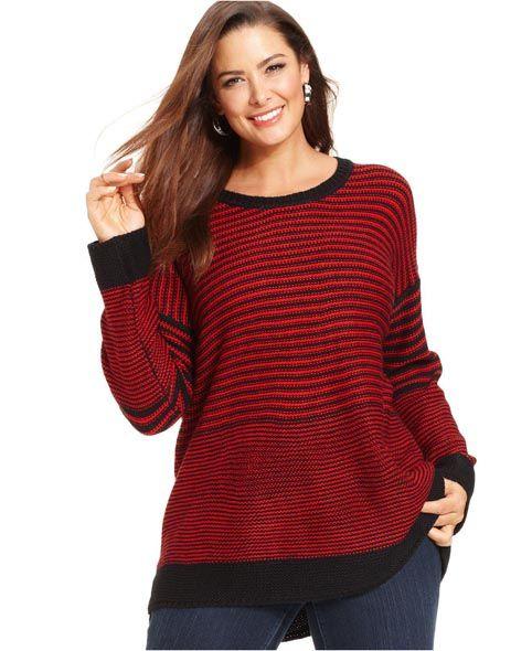 Модные свитера, пуловеры и туники для полных женщин. Осень-зима 2013-2014