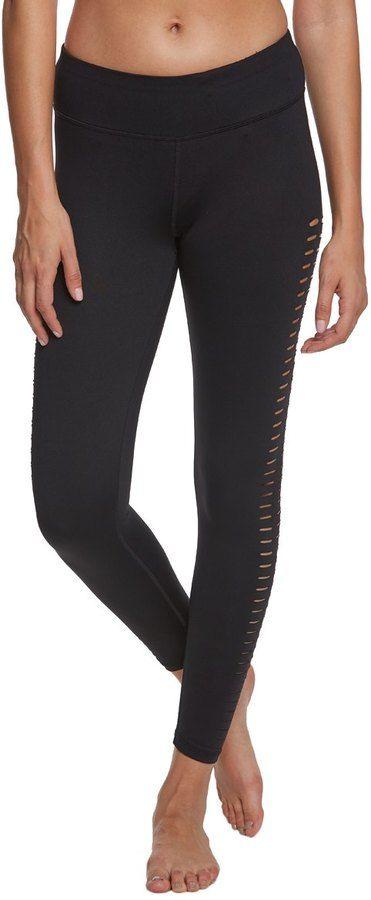 Betsey Johnson Laser Cut PeekA-Boo Yoga Capri Leggings - 8161880