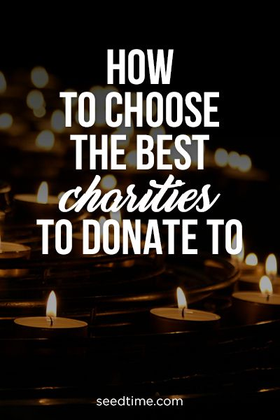 how to choose the best charities to donate to