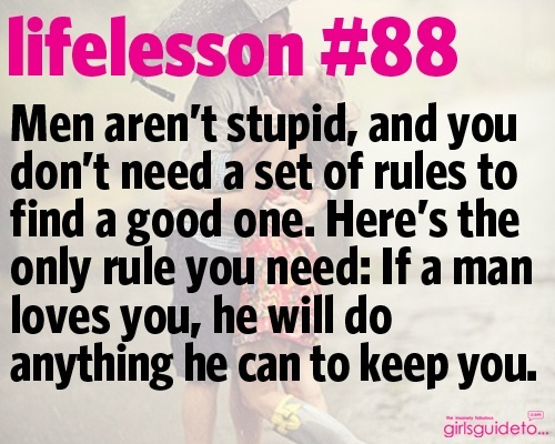 And if he doesn't... You deserve better so get over him.