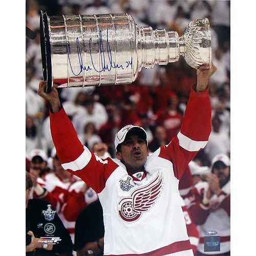 Chris Chelios Red Wings Stanley Cup Overhead Vertical 16x20 Photo