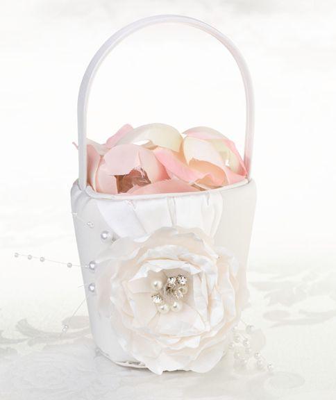 Shabby & Chic Flower Basket - The Wedding Faire