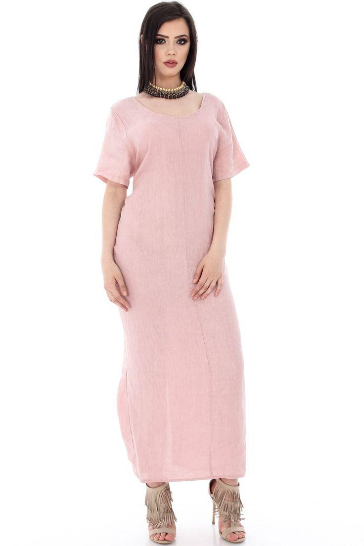 Rochie roz pal, maxi - DR2916