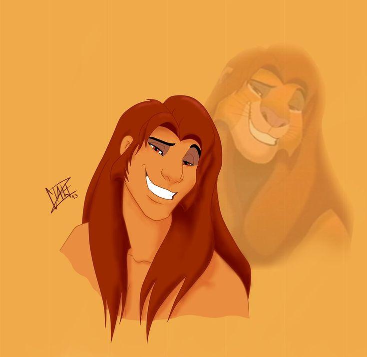 Cartoon Characters Lion King : Human simba by xibira on deviantart non cartoon