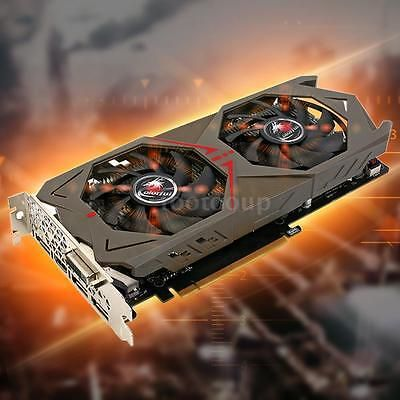 ﹩330.69. New Colorful NVIDIA GeForce GTX 1060 GDDR5 3GB Graphics Card DVI+3*DP+HD Port   GPU - Geforce GTX 1060, Core structure - GP106, Core technology - 16nm, CUDAs stream processors - 1152, Base clock (MHz) - 1506, Boost clock (MHz) - 1708, Memory clock (MHz) - 8008, Standard memory config - 3GB GDDR5, Memory interface width - 192-bit, Multi-projection - Yes, VR Ready - Yes, 3D API - Direct X 12.1, OpenGL - 4.5, Bus Support - PCIe 3.0, Maximum digital resolution - 7680*4320@60Hz, D