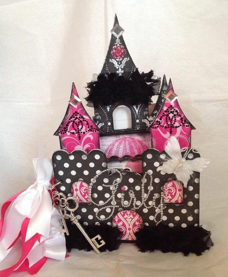 Scrapbooking premade beautiful Love/Girly Princess Castle album - FAB