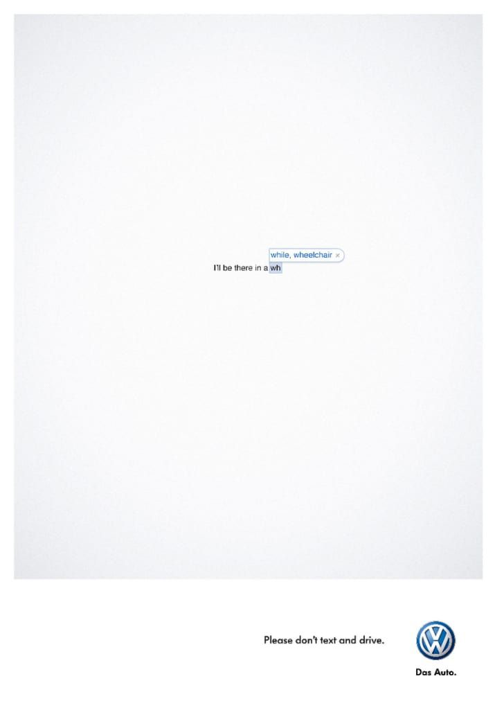 Great PSA campaign via South Africa for VW.Ad agency: Ogilvy & Mather Cape Town.