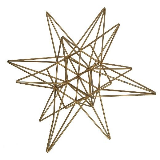 Add a touch of sophistication to any room with this contemporary metal tabletop accessory by E2 Concepts for Masterpiece Art Gallery.  This item features a beautiful gold finish on an intricate geometric design, perfect with any type of home decor.  Display alone, or paired with other home accessories by E2 Concepts for Masterpiece Art Gallery. Wipe clean with a dry cloth.  Each piece sold separately.