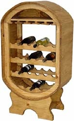 Perfect for your home or an intimate restaurant, you can store your wine in your wine cellar or in a cool dining room with this affordable wine rack. There's space for glasses as well as numerous bottles.  Hand made in Mexico by skilled craftsmen, the sturdy solid pine has a rustic distressed finish.  The southwestern style goes well with other furniture.