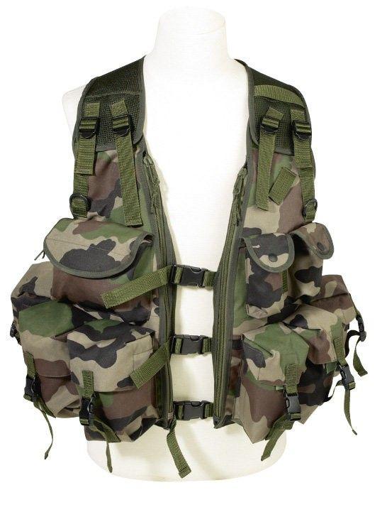 Le gilet d'assaut solide et fonctionnel T.O.E. Concept® PRO, 9 poches extérieures, 2 poches intérieures et 1 poche au dos, entièrement réglable à votre morphologie, ildéal pour les militaires et les forces de l'ordre.