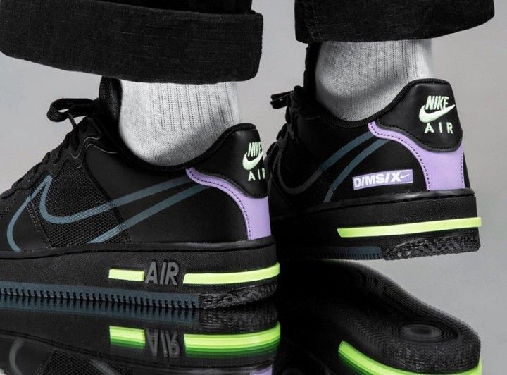nike air force 1 react violet