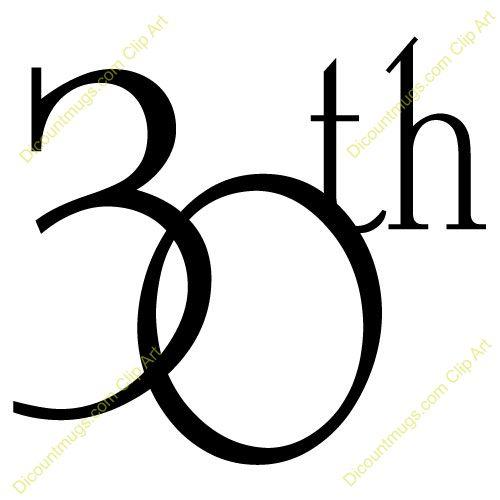 30 Year Anniversary Symbol: Happy 30th Anniversary Clip Art