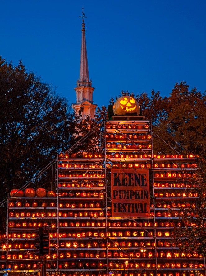 Pumpkin Festival, Keene, New Hampshire. Because of trouble at the 2014 festival, it is being moved to Laconia, NH for 2015.