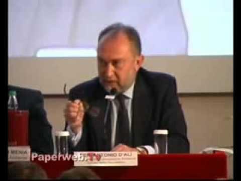Senatore Antonio d'Alì - Intervento al convegno Comieco su carta e cartone. Il video integrale del rapporto stilato dal Presidente della 13° commissione territorio ambiente al Senato.
