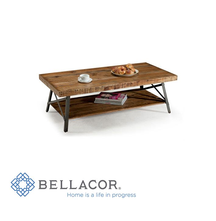 This Cocktail Table Offers A Lower Solid Wood Shelf For Extra Storage Under The Tabl Wood