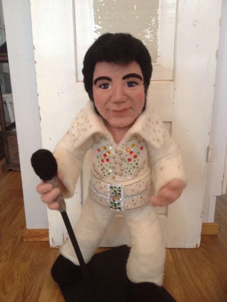 Needle Felted Elvis  by Monika Kallio. Finland