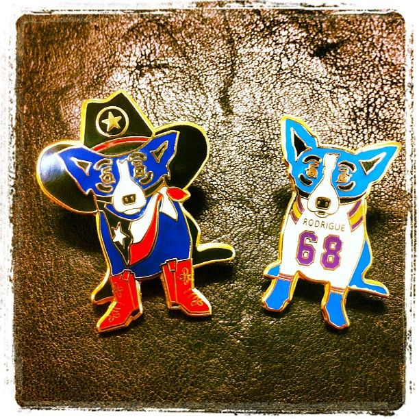 Pins: Fav Rodrigue S, Dog Luvvvv, Louisiana Tour, Blue Dog