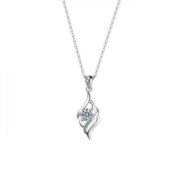 Sevgili modeli, zirkon taşlı gümüş kolye | bk028
