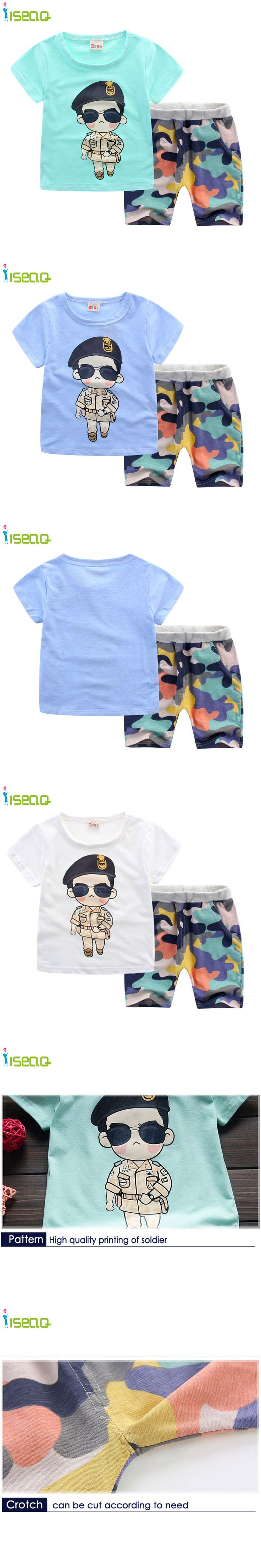 Children boy clothes Branded camouflage clothing Baby Boys Toddler Suits Summer Kids Clothes Clothing Sets Short Sleeve Boys