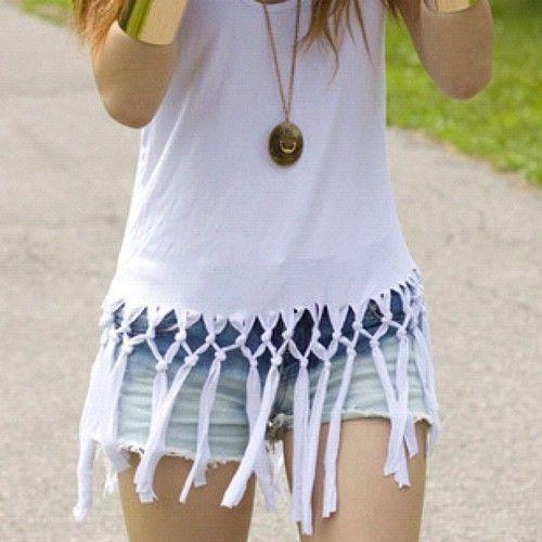 簡単にボヘミアン♪ 秋まで着れる おすすめのフリンジTシャツ♡の16枚目の写真