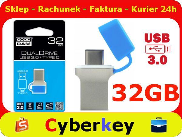 PENDRIVE32GB 3C USB3.0 GOODRAM DualDrive