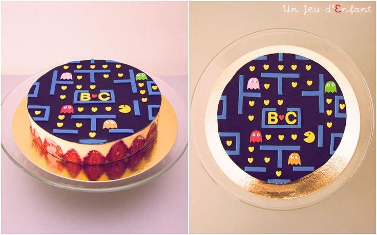 gateau pac man / Pacman cake - un jeu d'enfant - Nantes, France