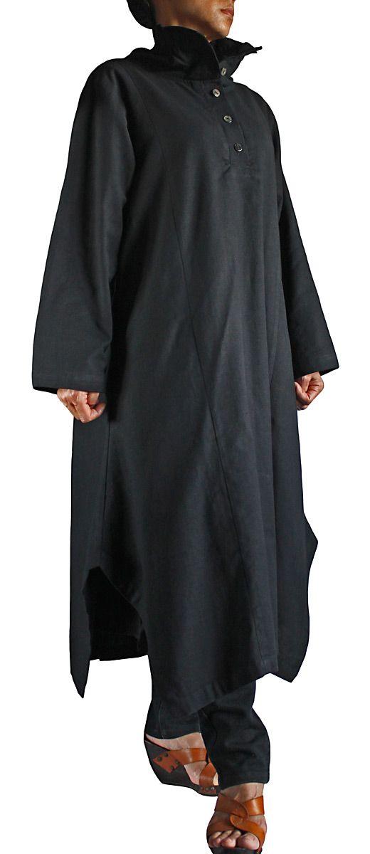 ジョムトン手織綿ハイネックロングドレス