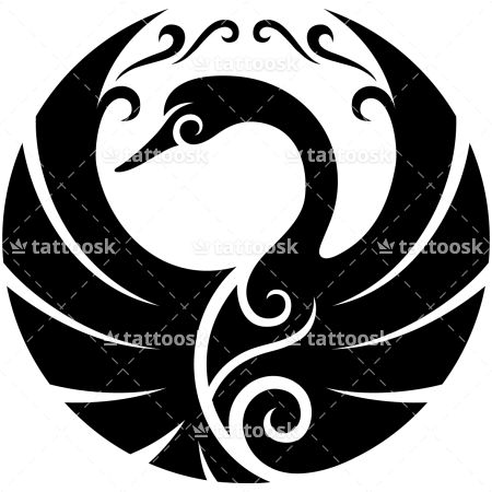 Tribal Swan ❥❥❥ https://tattoosk.com/black-swan-tattoo#123