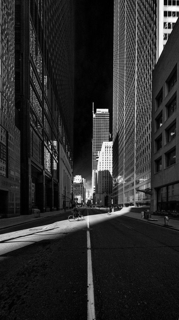 Torontos Financial District in black & white -  #toronto #financial #district